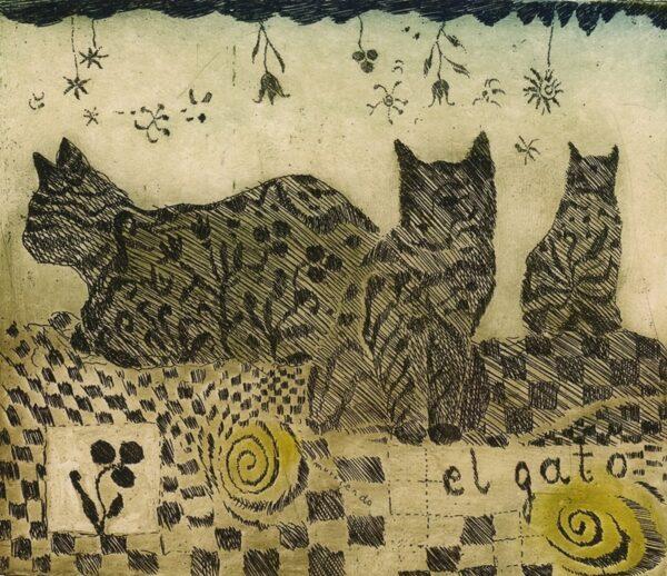 koty wielbiciele kotów el gato purzycka wklęsłodruk