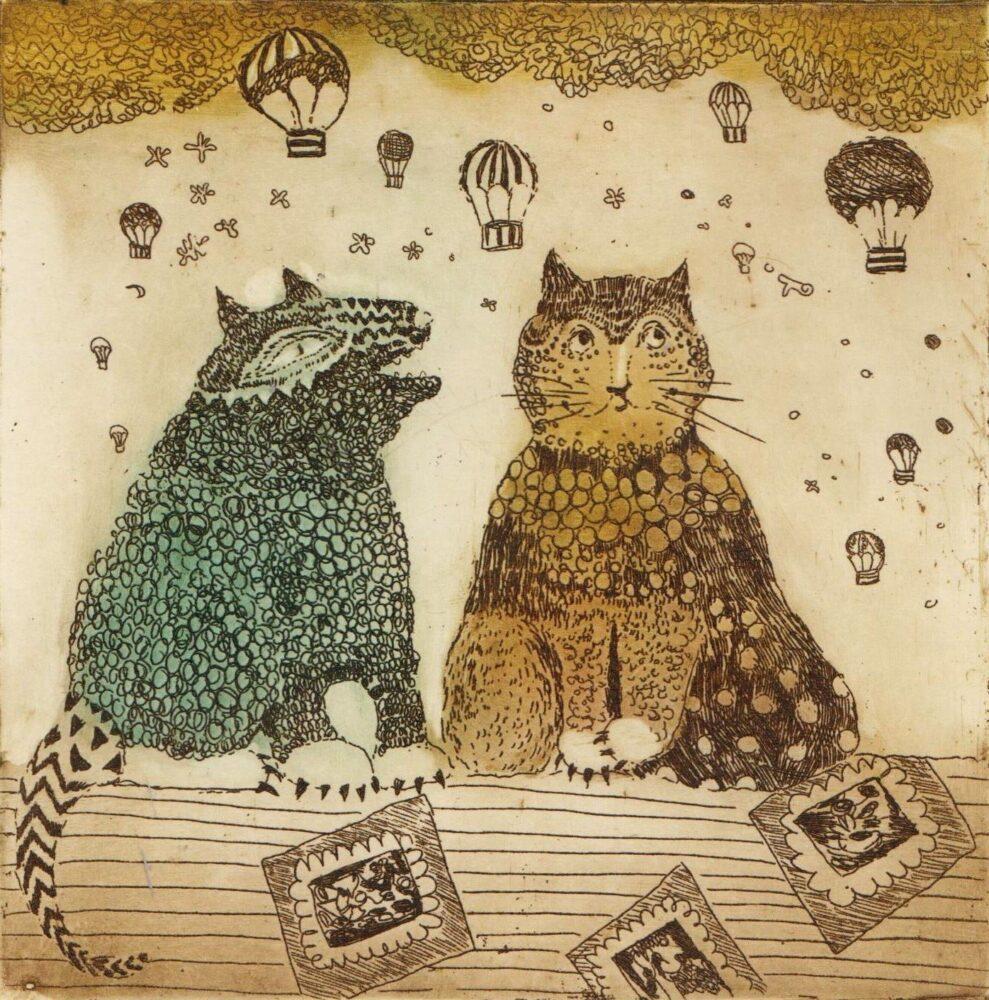 Miau, hau i balony