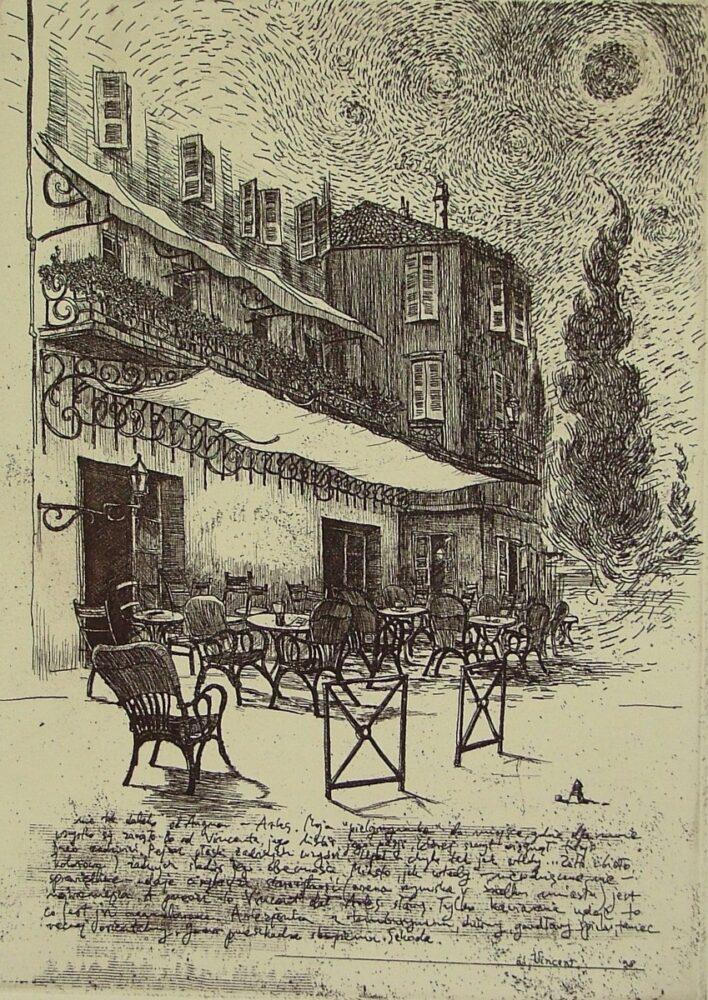 Cafe` La Nuit (list z Arles)