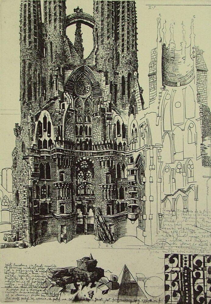 Sagrada Familia (list z Barcelony II)