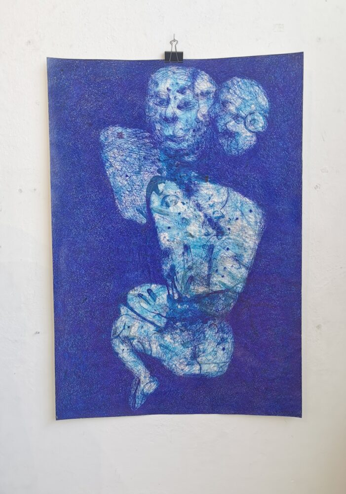 Temptation (blue ink)